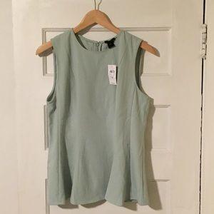 Mint green peplum blouse